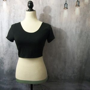 Black Topshop Crop Top Size 10